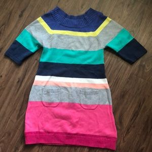Girls Old Navy Color Block Sweater Dress Size M 8
